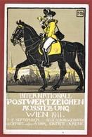 Privatganzsache Int Postwertzeichen Ausstellung Wien 1911  5 Vignetten, Gelaufen 2 Scan - Enteros Postales