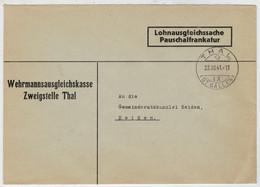 INTERO  POSTALE     THAL       ST.  GALLEN       PER  HEIDEN              1941   (VIAGGIATA) - Stamped Stationery