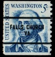 """USA Precancel Vorausentwertung Preo, Locals """"FALLS CHURCH"""" (VA). Roulette. - Preobliterati"""