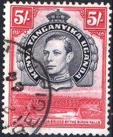KENYA, UGANDA, TANGANYIKA, BRITISH EAST AFRICA, GIORGIO VI, 1938, 10 C., USATO Mi. 69A,    Scott 83,  YT 60 - Kenya, Ouganda & Tanganyika