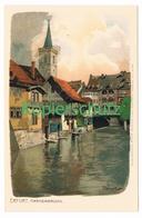 762 Marcks Alexander Erfurt Krämerbrücke Litho Künstlerkarte - Other Illustrators