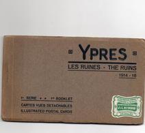 CPA Belgique Flandre Occidentale Iepper Ypres Les Ruines 10 Cartes Guerre De 1914-18 1ère Série - Oorlog 1914-18