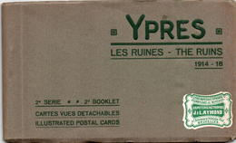 CPA Belgique Flandre Occidentale Iepper Ypres Les Ruines 10 Cartes Guerre De 1914-18 2ème Série - Guerre 1914-18