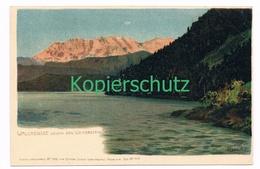 772 Marcks Alexander Walchensee Wetterstein Litho Künstlerkarte - Other Illustrators