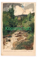 781 Marcks Alexander Schwarzatal  Litho Künstlerkarte - Other Illustrators