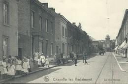 +++ CPA - CHAPELLE LEZ HERLAIMONT - La Rue Neuve - Nels - Carte Animée    // - Chapelle-lez-Herlaimont