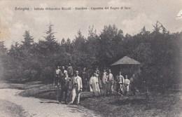 BOLOGNA-ISTITUTO ORTOPEDICO RIZZOLI-GIARDINO-CAPANNA DEL BAGNO DI LUCE-CARTOLINA VIAGGIATA IL 17-9-1908 - Bologna