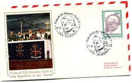 SAN MARINO 1982 VISIT Of The POPE.BARGAIN.!! - FDC