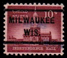 "USA Precancel Vorausentwertung Preo, Locals ""MILWAUKEE"" (WIS). - Stati Uniti"