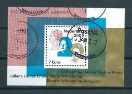 2009 Netherlands Complete M/Sheet Queen's Used/gebruikt/oblitere - Blokken