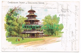 785 P. Krämer München Englischer Garten Litho Künstlerkarte - Other Illustrators