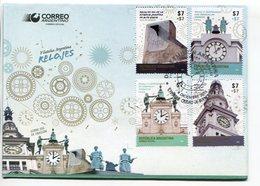 RELOJES, CLOCKS, HORLOGES. ARGENTINA 2015 SOBRE PRIMER DIA, ENVELOPE FDC - LILHU - Relojería