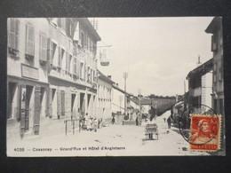 Suisse - Cossonay - CPA - Grand'Rue Et Hôtel D'Angleterre N° 4038 Phototypie Neuchâtel - 1917 - B.E - - VD Vaud