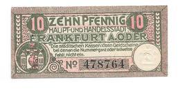 **notgeld  Frankfurt A/d Oder  10 Pfennig F17.4a - [11] Emissions Locales