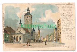 800 P. Krämer Deggendorf Rathaus Litho Künstlerkarte - Deggendorf