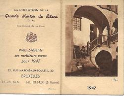 Calendrier 1947 Grande Maison Du Blanc Marché Aux Poulets Bruxelles - Kalenders