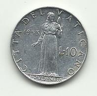1953 - Vaticano 10 Lire - Vaticano
