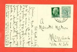 CARTOLINA DA MEZZOCORONA PER MEZZANA- 5/8/1929 - Storia Postale
