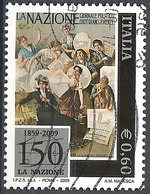"""Italia, 2009 Quotidiano """"La Nazione"""" 0.60 € # Sassone 3111 - Michel 3320 - Scott 2952 USATO - 6. 1946-.. Repubblica"""
