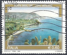 Italia, 2009 Veduta Di Capo Vaticano 0.60 € # Sassone 3107 - Michel 3318 - Scott 2950 USATO - 6. 1946-.. República