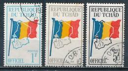°°° CIAD TCHAD - Y&T N°1/3 SERV. - 1966 °°° - Ciad (1960-...)