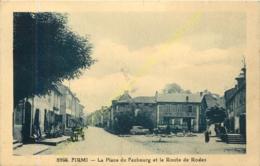 12.   FIRMI .  La Place Du Faubourg Et La Route De Rodez . - Firmi