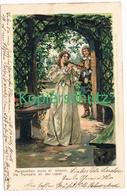 817 Fritz Bergen Liedkarte Flötenspielerin Litho Künstlerkarte - Other Illustrators