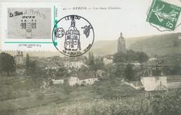"""OT Sur Carte Postale Avec MTAM : """"le Biou"""", Avec Clocher (Arbois, Jura, 39) Du 02-09-2018 - Cachets Commémoratifs"""