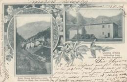 SAINT REMY-AOSTA-MULTIVEDUTE(2 IMMAGINI IN STILE LIBERTY -CARTOLINA VIAGGIATA  IL30-12-1900 - Aosta