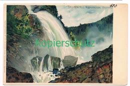 838 Schmidt Carl Stuibenfall Umhausen Ötztal Litho Künstlerkarte - Autres