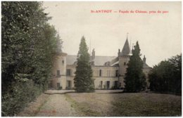 21 SAINT-ANTHOT - Façade Du Chateau Prise Du Parc - Francia