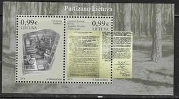 LITHUANIA, 2019, MNH,MILITARY, PARTISANS, RESISTANCE, GUNS,  SHEETLET - Histoire