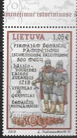 LITHUANIA, 2019, MNH, FIRST MENTION OF  SAMOGITIANS, WARRIORS, SOLDIERS, MILITARY, 1v - Histoire