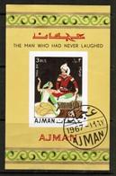AJMAN  Mi. # BL13B VF USED SOUVENIR SHEET (LG-1075) - Ajman