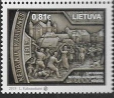 LITHUANIA, 2019, MNH, HISTORY, INDEPENDENCE FIGHTERS, 1v - Histoire