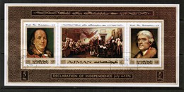 AJMAN  Scott # UNLISTED 1971 VF USED SOUVENIR SHEET (LG-1076) - Ajman