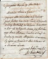 1808 GUINGUETTES D'HIX (66) - MM. COURTOIS & Cie De TOULOUSE - TRILLES CADET à M. CHERIS Parfumeur à GRACE - Documents Historiques