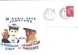 12978  MAYOTTE - Jumelage Entre Le Patrouilleur LE MALIN Et La LÉGION ÉTRANGÈRE - 30/4/2013 - Mayotte (1892-2011)