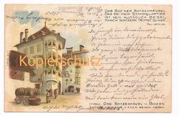 874 Reisch Batzenhäusl Bozen Künstlerkarte - Bolzano (Bozen)