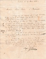 1828  Envoi De M. BALGUERIE Aîné D'ADGE - Note De Frais Avec Nom Des Patrons Des Bateaux - Toulouse à Bordeaux - Documents Historiques