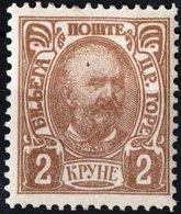 MONTENEGRO, PRINCIPE NICHOLAS I, 1902, 2 K., FRANCOBOLLO NUOVO (MLH*) Mi. 48C  Scott 64, YT 56 - Montenegro