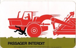 Autocollant -    Grand Modèle    -   PASSAGE INTERDIT -    Sécurité - Stickers