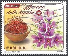 Italia, 2008 Lo Zafferano 0,60 €. # Sassone 3051 - Michel 3260 - Scott 2891  USATO - 6. 1946-.. Repubblica