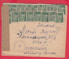 240767 / 1948 - 20 X 1 Lv. POST OFFICE SOFIA , Bulgaria Bulgarie TO Österreichischen Zensurstelle 32 WIEN Austria - 1945-59 People's Republic