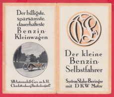 240795 / Advertising - DER KLEINE BENZIN SELBSTFAHRER SYSTEM Slaby-Beringer MIT DKW MOTOR CAR  GERMANY - Publicités