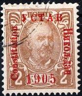 MONTENEGRO, PRINCIPE NICHOLAS I, 1906, 2 K., FRANCOBOLLO USATO Mi. 58I  Scott 73, YT 65 - Montenegro