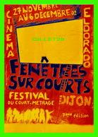 AFFICHES DE CINÉMA - 7e ÉDITION FESTIVAL DU COURT-MÉTRAGE DE DIJON EN 2002 - FENÊTRES SUR COURTS - - Affiches Sur Carte