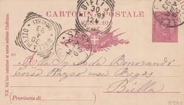 INTERO POSTALE CENT. 10 - SESTO CALENDE ( VARESE) - VIAGGIATA PER PIAZZO ( BIELLA) - 1878-00 Umberto I