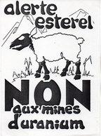 Alerte Esterel - NON Aux Mines D' Uranium (113308) - Unclassified