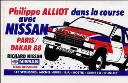Autocollant -    PARIS DAKAR  88   Philippe ALLIOT Dans La Course Avec NISSAN - Autocollants